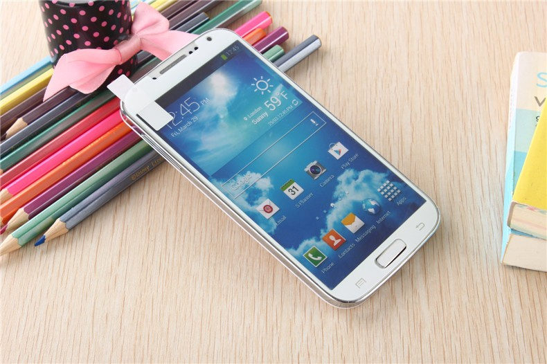 Samsung Galaxy S4 Colored Tempered Glass-White