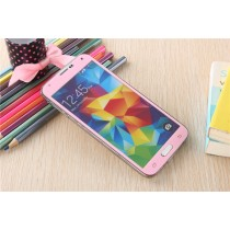 Samsung Galaxy S5 Colored Tempered Glass-Pink