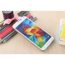 Samsung Galaxy S5 Colored Tempered Glass-White