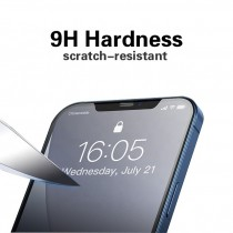 iPhone 12 Full Matte Tempered Glass Screeen Protector-Black